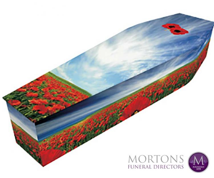 Mortons range of colourful and custom coffins