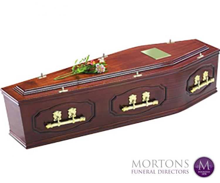 Mortons traditional solid hardwood coffin