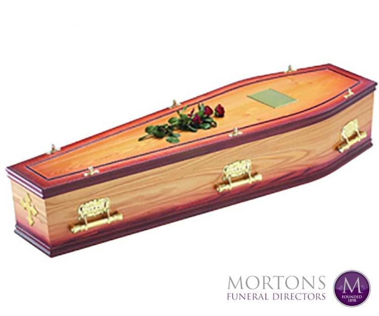 Mortons traditional veneered coffin