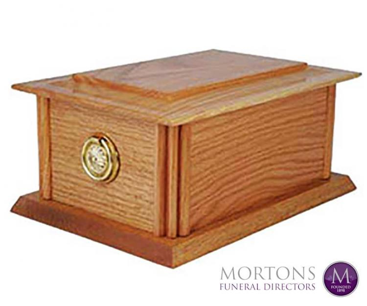 Wooden urns from Mortons Funeral Directors