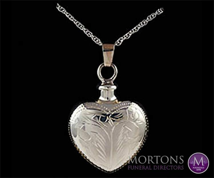 Keepsake jewellery for ashes from Mortons Funeral Directors
