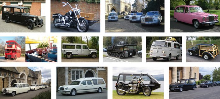 Mortons Funeral Directors more unusual hearses