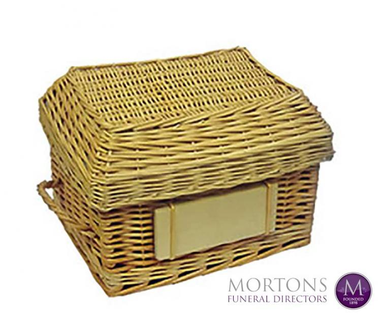 Urns made from natural materials from Mortons Funeral Directors
