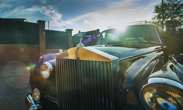 Mortons Funeral Directors classic Rolls Royce hearse