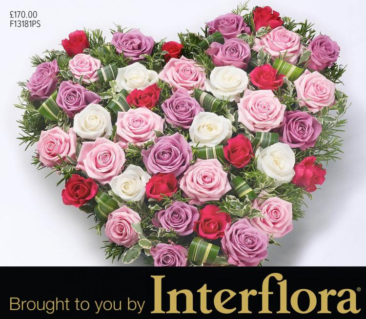 Mortons heart flowers brought to you by Interflora