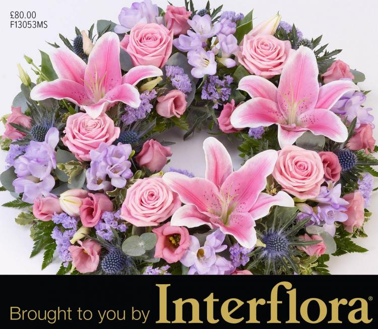 Mortons wreaths brought to you by Interflora